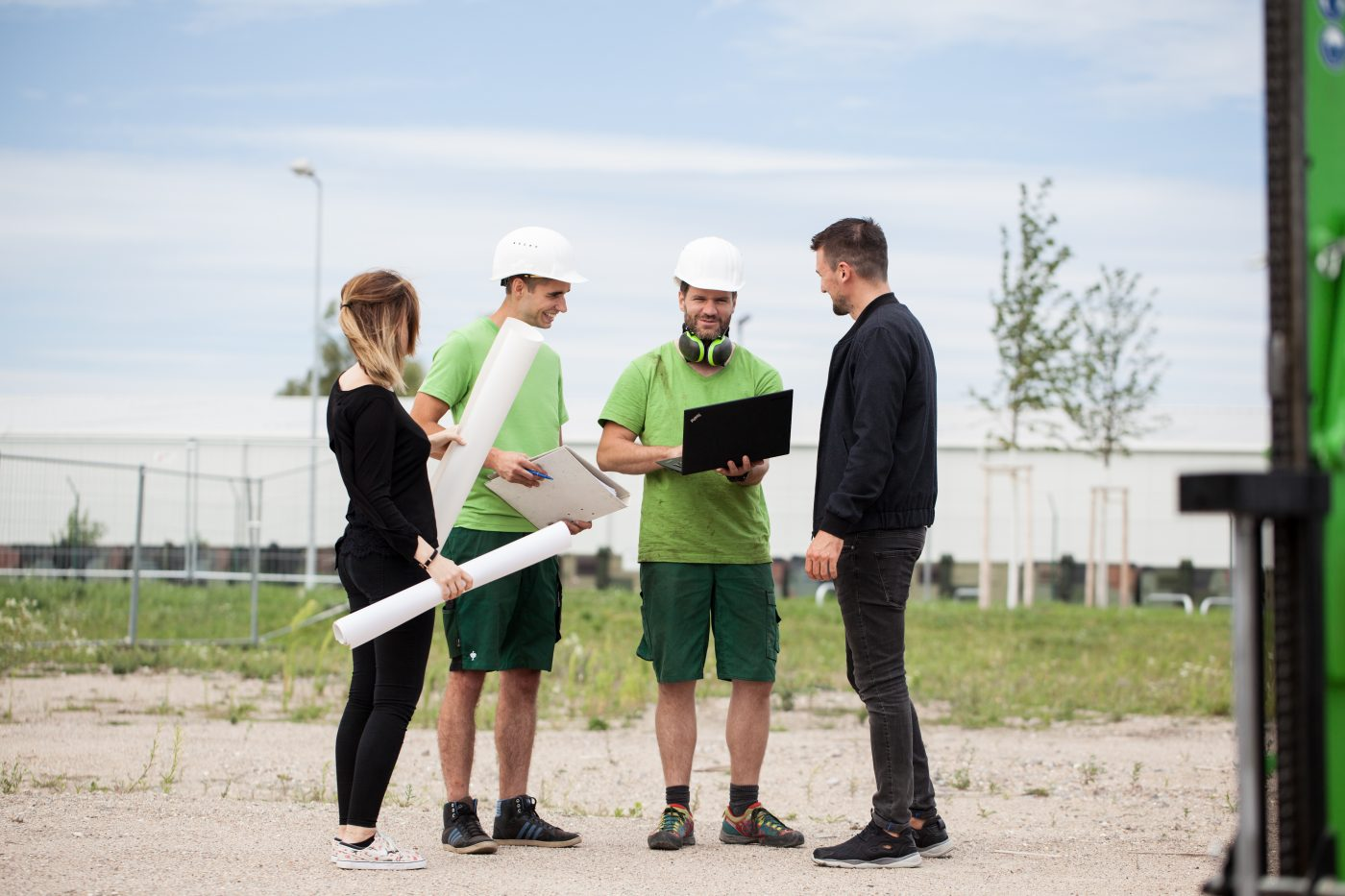 Der Geotechnische Bericht für ein Bauvorhaben, live vor Ort.